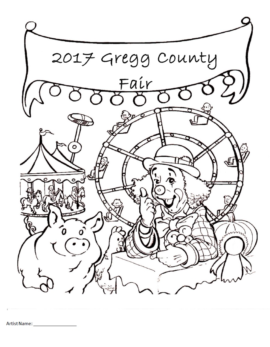 Coloring Contest | Longview, TX: Gregg County Fair